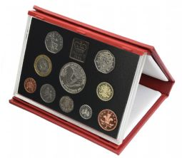 1998 Proof set red Leather deluxe for sale